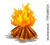 illustration of blazing bonfire ... | Shutterstock .eps vector #759188014