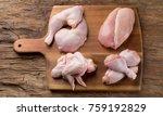raw chicken meat on wooden... | Shutterstock . vector #759192829
