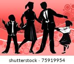 silhouettes of all family... | Shutterstock . vector #75919954