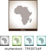 map of africa | Shutterstock .eps vector #759207169