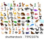 extra large set of animals...   Shutterstock .eps vector #75921076