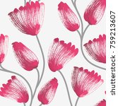 floral seamless pattern. hand... | Shutterstock .eps vector #759213607