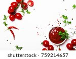 tomato ketchup sauce with... | Shutterstock . vector #759214657