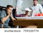 business people conflict... | Shutterstock . vector #759220774