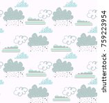 soft colored seamless clouds... | Shutterstock .eps vector #759223954