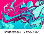 liquid paper marbling paint... | Shutterstock . vector #759224164