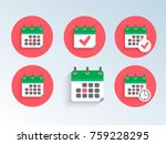 modern and simple flat vector...   Shutterstock .eps vector #759228295