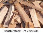 natural wooden background ... | Shutterstock . vector #759228931
