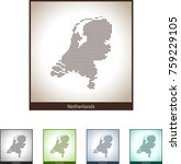 map of netherlands | Shutterstock .eps vector #759229105