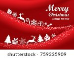 merry christmas and happy new... | Shutterstock .eps vector #759235909