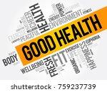 good health word cloud collage  ... | Shutterstock .eps vector #759237739