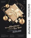 merry christmas   happy new...   Shutterstock .eps vector #759241945