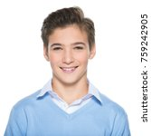 photo of adorable teenage young ... | Shutterstock . vector #759242905