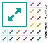 resize full flat color icons... | Shutterstock .eps vector #759244969