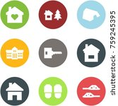 origami corner style icon set   ... | Shutterstock .eps vector #759245395