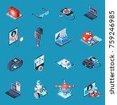 digital medicine isometric... | Shutterstock .eps vector #759246985