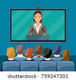 video conference concept. room... | Shutterstock . vector #759247201