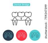 bridges teeth icon. dental... | Shutterstock .eps vector #759247399
