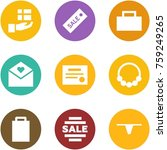 origami corner style icon set   ... | Shutterstock .eps vector #759249265