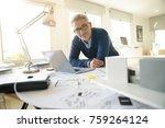 portrait of architect in office | Shutterstock . vector #759264124