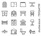 thin line icon set   arch... | Shutterstock .eps vector #759264799
