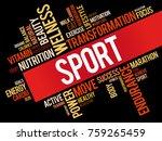 sport word cloud collage ... | Shutterstock . vector #759265459