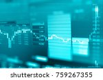 business graph and trade...   Shutterstock . vector #759267355