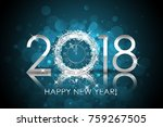 vector 2018 happy new year... | Shutterstock .eps vector #759267505