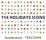 holidays colored icon party ... | Shutterstock .eps vector #759272494
