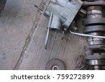 maintenance motor in the worshop | Shutterstock . vector #759272899