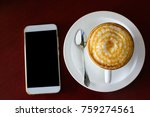 coffee and smartphone  mobile... | Shutterstock . vector #759274561