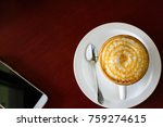 coffee and smartphone  mobile... | Shutterstock . vector #759274615