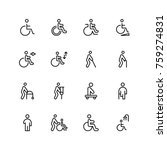 disabled icon set. collection... | Shutterstock .eps vector #759274831