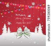 christmas lights abstract... | Shutterstock .eps vector #759280069
