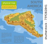 isometric 3d south america... | Shutterstock .eps vector #759282841