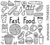line hand drawn doodle vector... | Shutterstock .eps vector #759283321