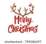 merry christmas card design... | Shutterstock .eps vector #759286297