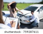 side view of writing on...   Shutterstock . vector #759287611