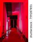 red walls in a corridor of a... | Shutterstock . vector #759287851
