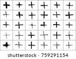 plus symbols big collection. 30 ... | Shutterstock .eps vector #759291154