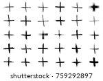 plus symbols big collection. 30 ... | Shutterstock .eps vector #759292897