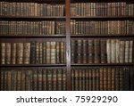 Historic Old Books In A Old...
