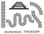 train railway road constructor... | Shutterstock .eps vector #759293299