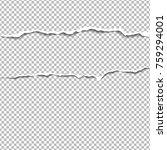 realistic vector torn paper... | Shutterstock .eps vector #759294001