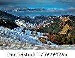 romanian winter landscape in... | Shutterstock . vector #759294265
