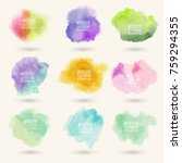 colors watercolor paint stains... | Shutterstock .eps vector #759294355