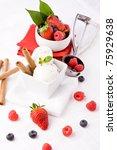 photo of delicious ice cream... | Shutterstock . vector #75929638
