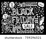 black friday sale on a black... | Shutterstock .eps vector #759296521