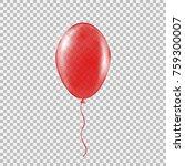 transparent red helium balloon. ... | Shutterstock .eps vector #759300007