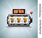 slot machine. lucky seven on... | Shutterstock .eps vector #759303244